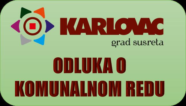 Odluka o komunalnom redu Karlovac